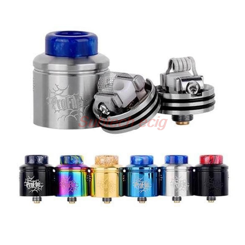 Profile RDA 24mm Atomizer Top Filling Squonk 40W 60W 0.18ohm Clapton Coil Atomizer 810 Drip Tip For 510 Thread Box Mod