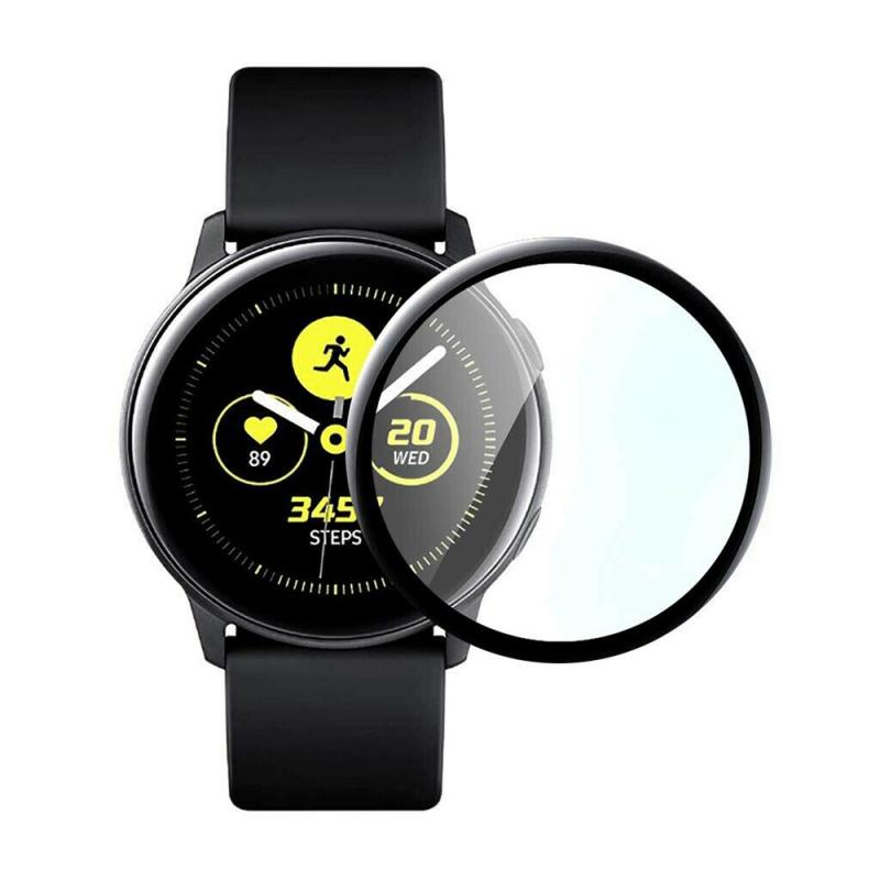 Watch Screen Protector For Samsung Galaxy Watch Active Tempered Film Full Screen Plating PET Hot Bending Soft Film 3D Flexible