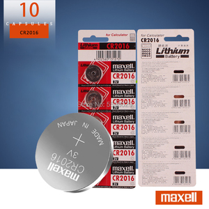 10pc original for maxell cr2016 cr 2016 BR2016 DL2016 LM2016 KCR2016 ECR2016 3v button battery cell battery for watches and toys(China)