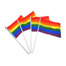 5 Pieces Rainbow Handheld Waving Flag Gay Pride Lesbian Peace LGBT Banner Festival