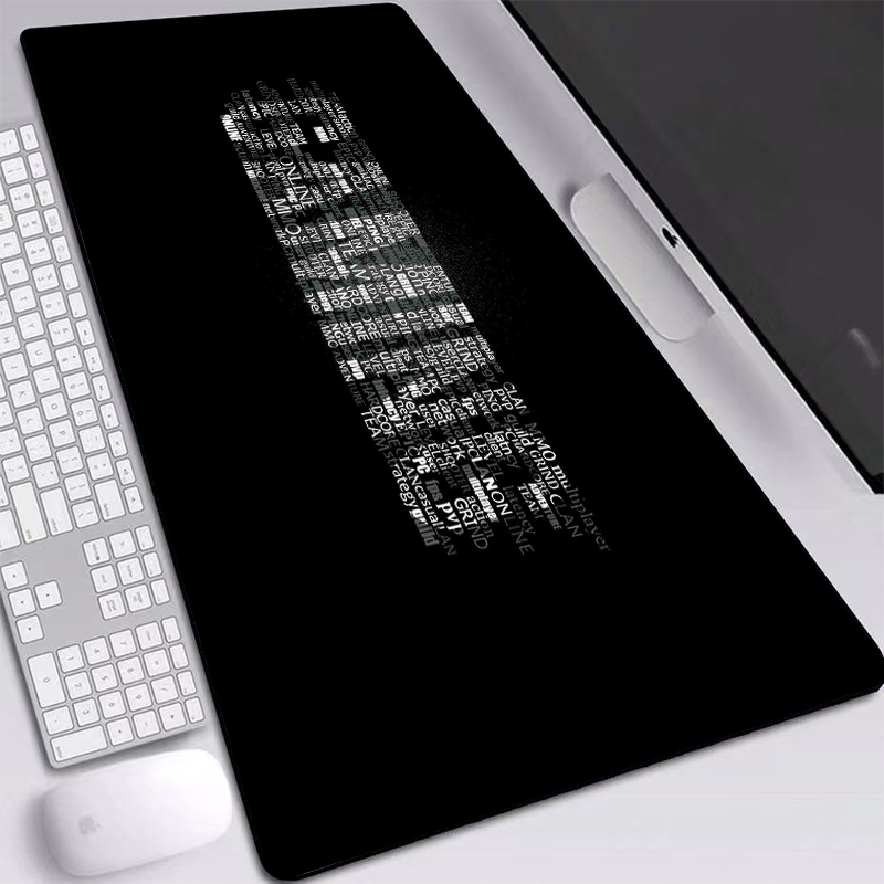 Large <font><b>Mouse</b></font> <font><b>Pad</b></font> Extended Big <font><b>XL</b></font>,XXL Desk Mat Black Simple Letter Gaming <font><b>Mouse</b></font> <font><b>Pad</b></font> Laptop PC Game Accessories for <font><b>Pad</b></font> <font><b>Mouse</b></font> image
