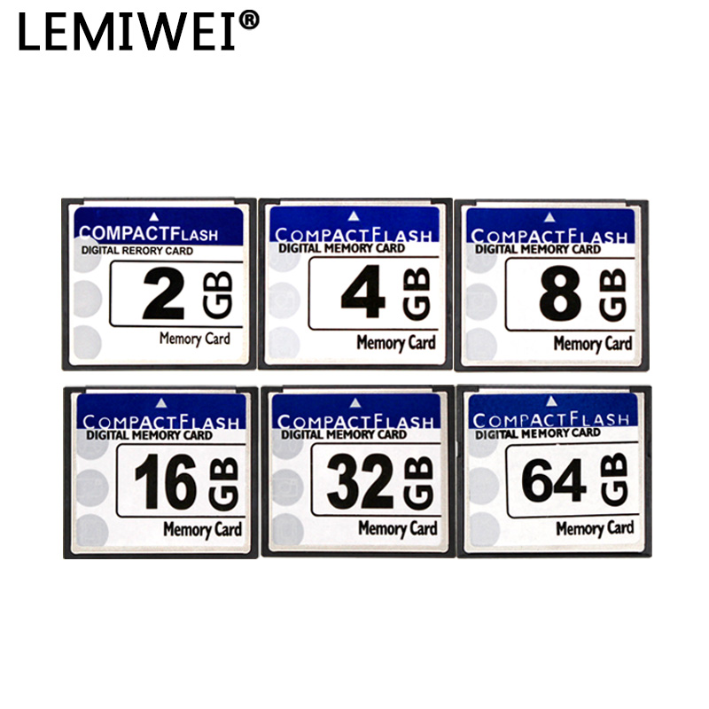 LEMIWEI CF Card Real Storage 2GB 4GB 8GB 16GB 32GB 64GB CF Card Pass H2testw Memory Card Compact Flash Card Class10 For Camera