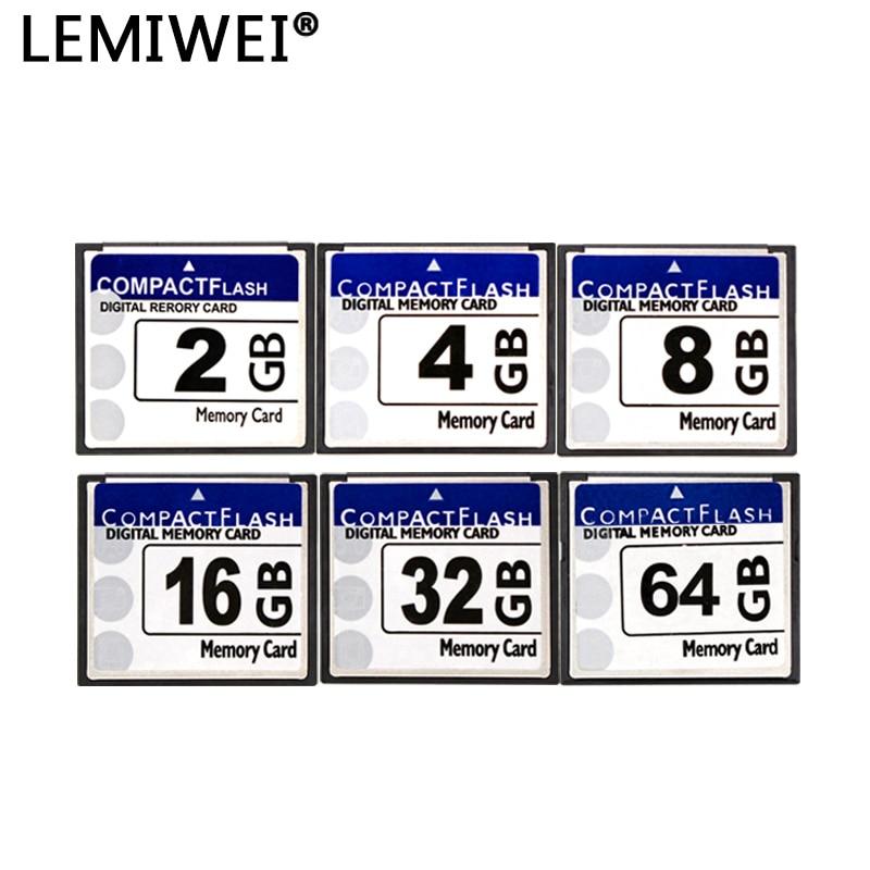 LEMIWEI CF carte stockage réel 2GB 4GB 8GB 16GB 32GB 64GB CF carte Pass H2testw carte mémoire Flash compacte Class10 pour appareil photo