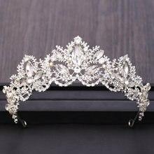 Модные свадебные аксессуары для волос Серебряный Цвет Корона