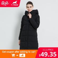 ICEbear 2019 new women's fashion brand parka winter jacket simple cuff design windproof warm female high quality coats  GWD18150