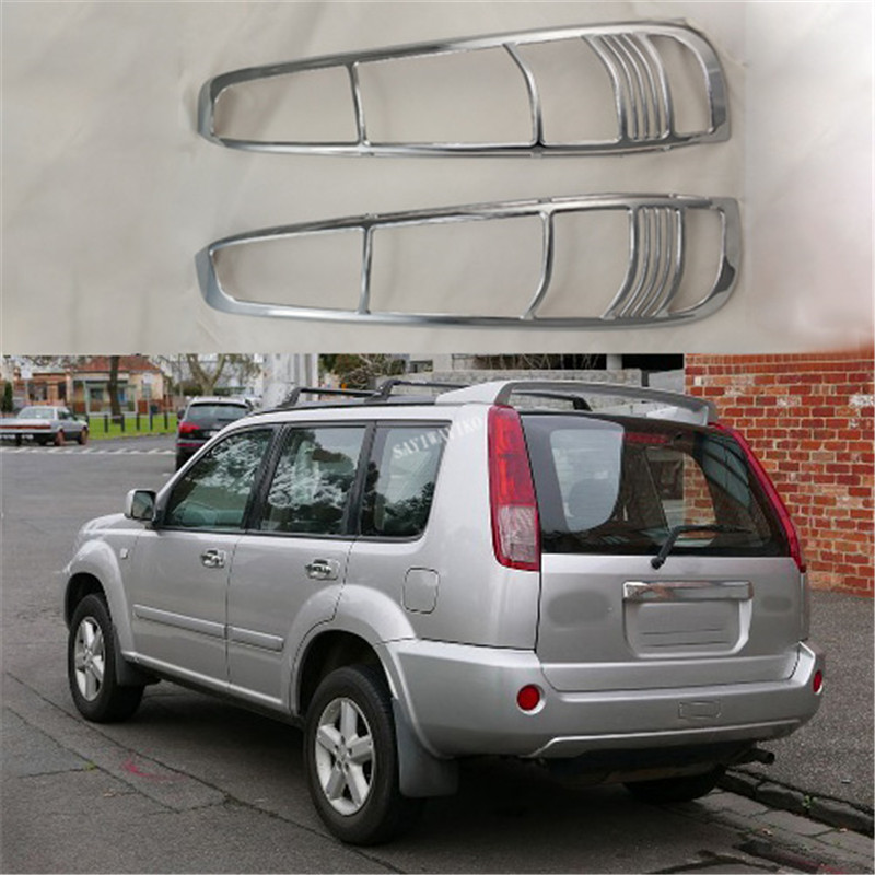 Novel Style 2PCS ABS Chrome Plated TAIL LAMP COVER For Nissan X-Trail 2000-2010 T30 Tail Light Coves
