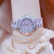 2020 nowych moda damska zegarki luksusowe markowy diament kobiety bransoletka srebrny zegarek kobiety sukienka kwarcowy zegar Relogio Feminino