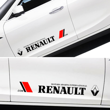 Pegatinas laterales de la puerta del coche calcomanía del cuerpo para Renault medane 2 3 Duster Logan Clio Laguna 2 capture accesorios interiores del coche estilo 2 piezas