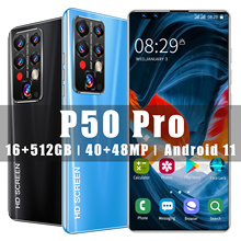 Global Version P50 PRO 7.8 Inch Fullview Display Android 11.0 Smartphone 16GB RAM 512GB ROM 40MP+48MP 5600mAh Dual Sim 5G Phone