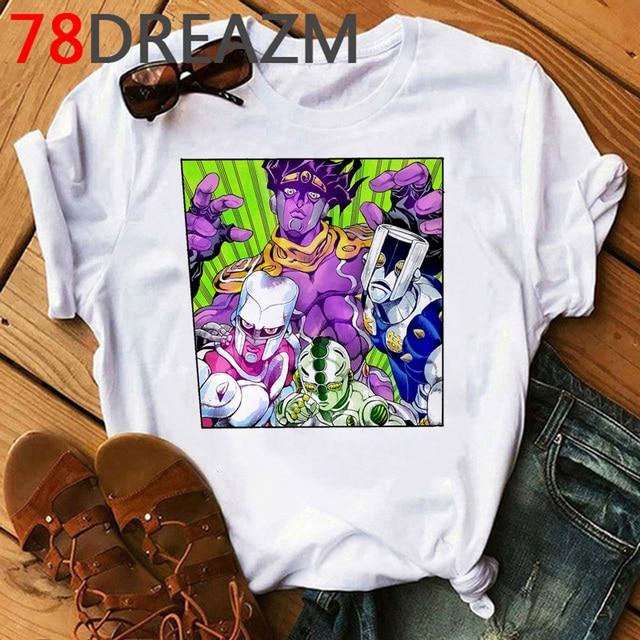 Jojo Bizarre Adventure T Shirt Women Japan Anime Summer Top T-shirt Kawaii Jojo Graphic Tshirt Plus Size Unisex Cartoon Female 3