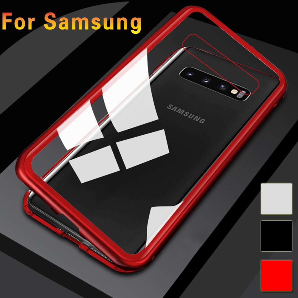 Magnetic <font><b>Case</b></font> For <font><b>Samsung</b></font> <font><b>Galaxy</b></font> <font><b>S10</b></font> S10e Plus 5g Adsorption Metal <font><b>360</b></font> Anti-drop transparent On S 10 10Plus 10s Protective <font><b>Cases</b></font> image