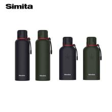 Simita spor paslanmaz çelik termos şişe termos çift duvar yalıtımlı taşınabilir seyahat kupa kahve kupası kamp thermomug