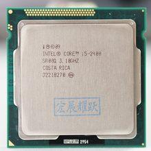 Intel processador core i5-2400 i5 2400 (6m cache, 3.1 ghz) lga1155 pc desktop cpu quad-core, cpu 100% de trabalho