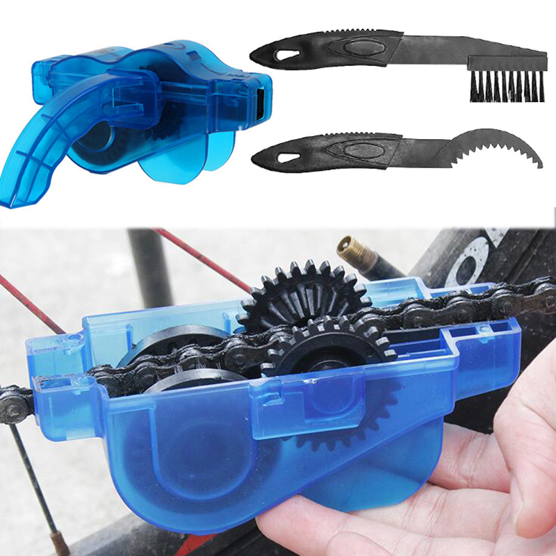 Bicycle Chain Cleaner Scrubber Brushes Cycling Cleaning Kit Mountain Bike Wash Tools Bicycle Repair Tools Bicycle Accessories