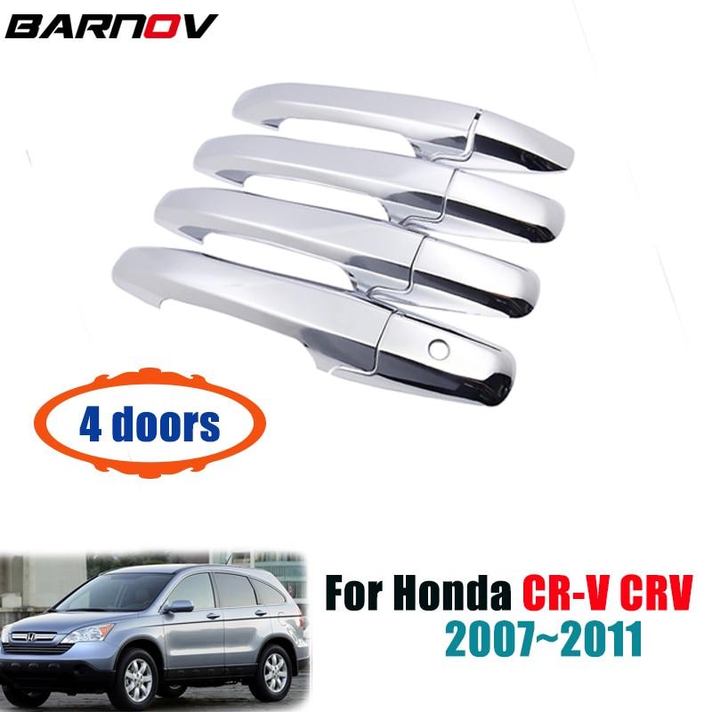 4X Chrome Door Handle Cup Bowl Trim for Honda CRV CR-V 2007 2008 2009 2010 2011