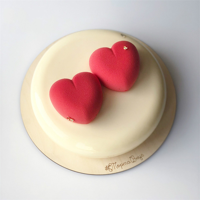 New Mousse Cake Mould 8 Holes Heart Silicone Molds For Cakes Mousse French Dessert Mold Pastry Baking Tools in Cake Molds from Home Garden