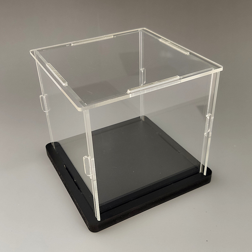 20x30cm Acrylic Display Collect Dust Cover Cabinet for Model Hand-Made Doll Collection Case with Light Easy-Install 1pc