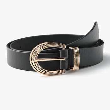 Women Metal Buckle Belt Fashion Gold Pin Buckle Pu Belts for Women 2020 Black Ins Waistband Female Jeans New Dress Gifts Hot women gold belt new metal buckle belts for women pu pin buckle waistband female jeans black white camel designer