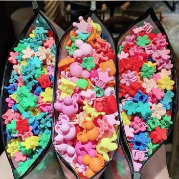 10/20/30/50Pcs/Bag Girls Women Flower Hair Claws Xuan Ya Peas Folder Korean Hairpins Children Small Gripper Clips Set