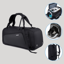 Bolsas de viaje de gran capacidad para hombre, mochila de equipaje de mano, bolso de lona para hombre, bolsas deportivas grandes multifunción con bolsa para zapatos