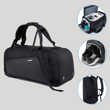 Large Capacity Male Travel Bags Hand Luggage Bag Backpack Man Duffle Bag Multifunction Big Sports Bags with Shoe Pouch large capacity travel gym bag leisure travel waterproof foldable backpack movement cylinder package sports luggage bags