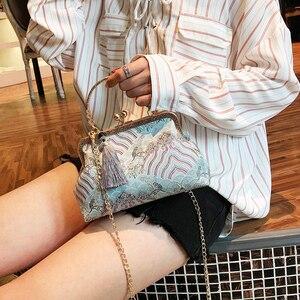 Image 5 - Vintage baiser serrure coquille sac sacs frange fourre tout femmes sacs à main sacs à main chaîne dame femmes épaule sac à bandoulière sacs livraison gratuite