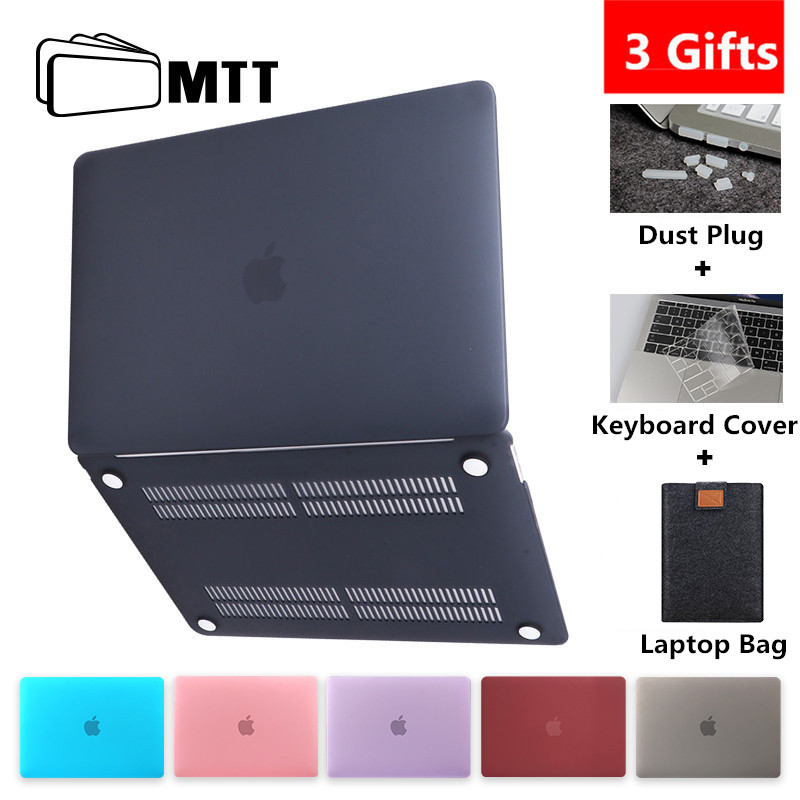 MTT Matte/Crystal Case For Macbook Air Pro Retina 11 12 13 15 Touch Bar Hard Cover  title=