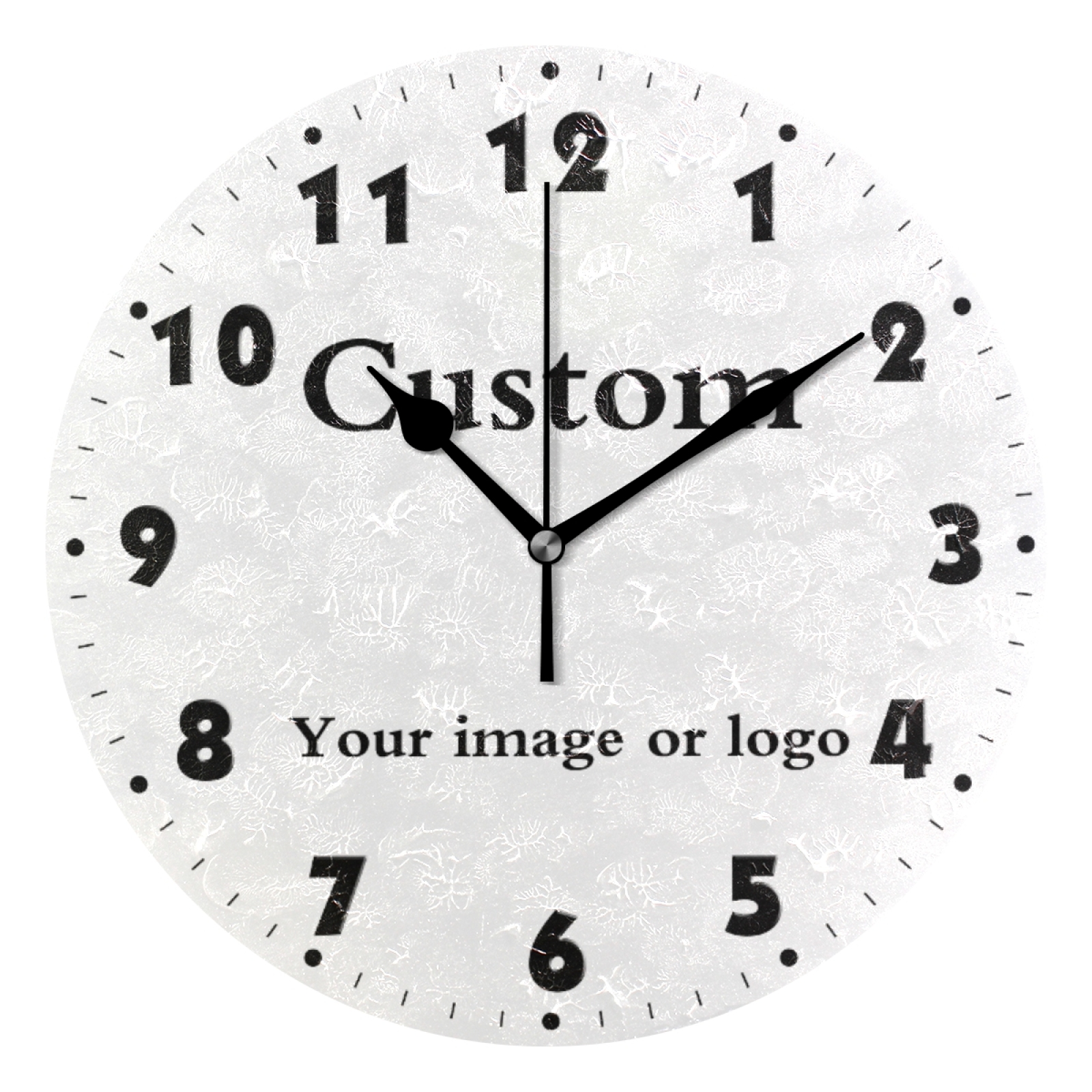 Custom Your Own Round Wall Clock Quiet Battery Operated Wall Watch Silent Non Ticking High Quality Tailor-Made Home Decor Clock