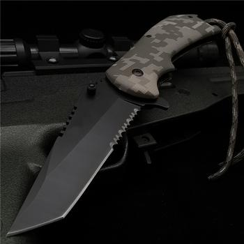 20CM (7 8 ') 58HRC składany nóż kieszonkowy scyzoryk ostrze 8CR18MOV wielofunkcyjne polowanie taktyczne narzędzie survivalowe tanie i dobre opinie Doom Blade Farby i dekorowanie CN (pochodzenie) STAINLESS STEEL Nóż szwajcarski