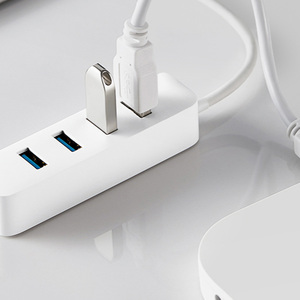 Image 5 - Original Xiaomi 4 Ports USB3.0 Hub Stand by Power Supply Interface USB Hub Extender Connector Adapter for Tablet Computer