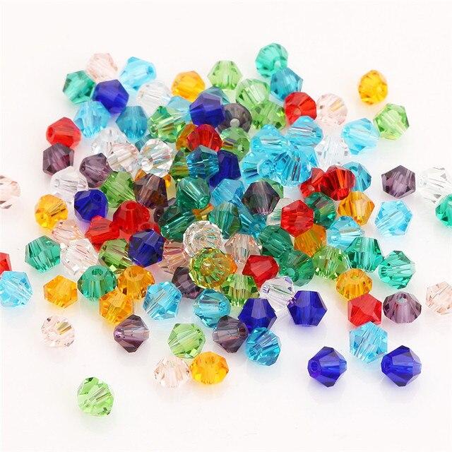 6mm Mix Color bicono cuentas sueltas de Vidrio Cristal Facetado buscar en R9M3 S Y2Z5 100 un