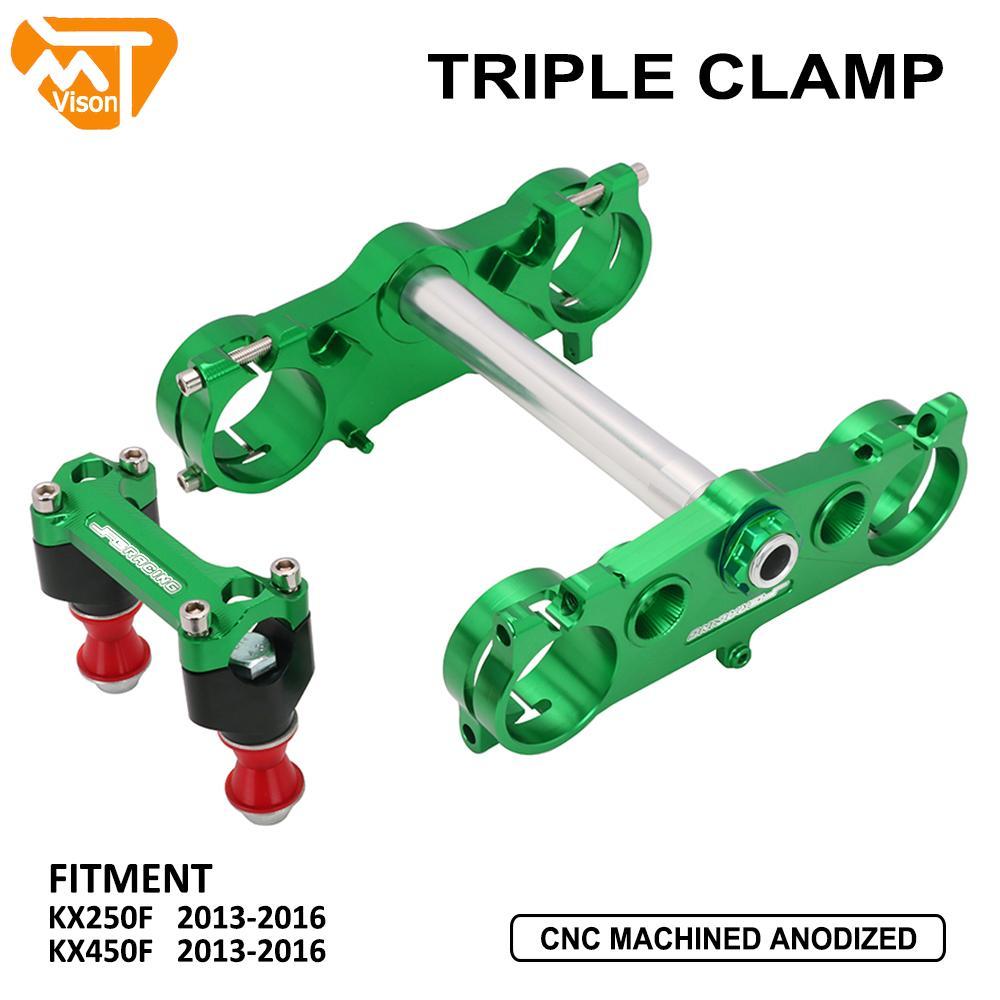 Motorcycle Handlebar Riser Mount Triple Tree Clamps Steering Stem For Kawasaki KX250F 2013-2016 KX450F 2013 2014 2015 2016