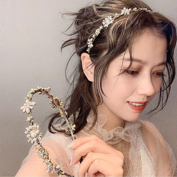 2019 New Baroque High Grade Crystal Rhinestone Hair Hoop Headband Hairband For Women Girls Gemstone Hair Band Hair Accessories