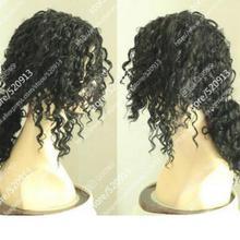 Парик Майкл Джексон/черные винты черные волосы, короткий парик с хвостиками