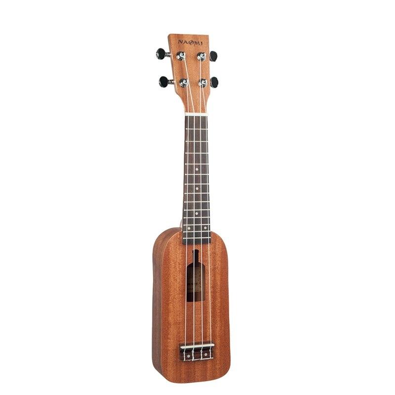 Dropship-NAOMI Soprano Ukulele Ukelele Hawaii Guitar Mahogany 12 Frets Ukulele Bottle Type Ukulele 4 String Guitar