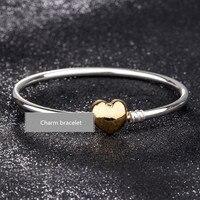 NEW 100% 925 Silver chain bead Bracelet charm Bangle for Women jewelry making,1pz