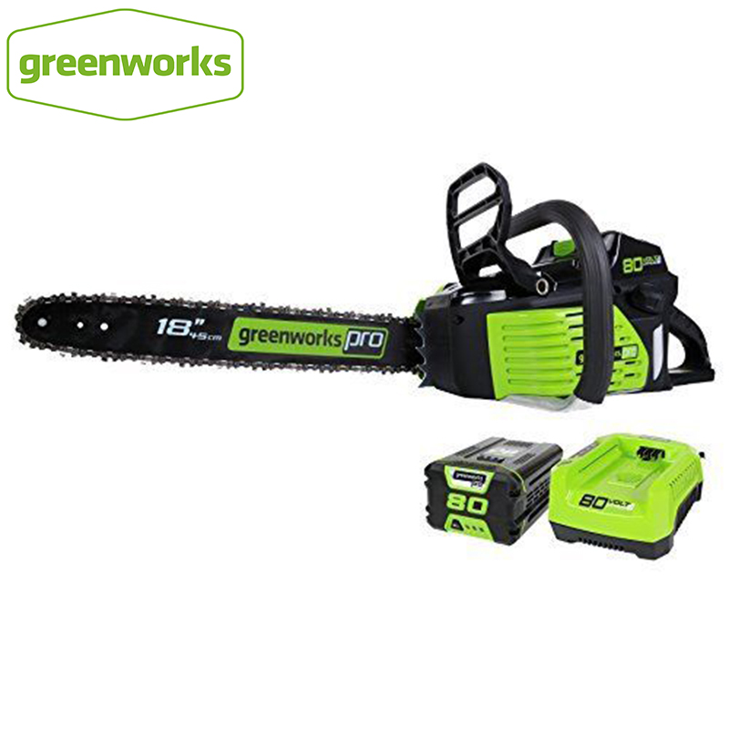 GreenWorks Pro GCS80420 80V 18-Inch Cordless Chainsaw  as Gasoline power chain saw, 4Ah Li-Ion Battery and Charger Included