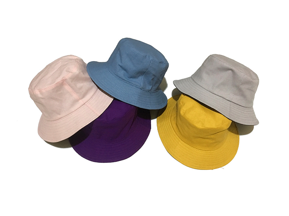 the Product Has Been Sold Please Do Not Buy Hat Solid Color Bucket Hat Double-sided Stripe Sun Hat Men And Women Simple
