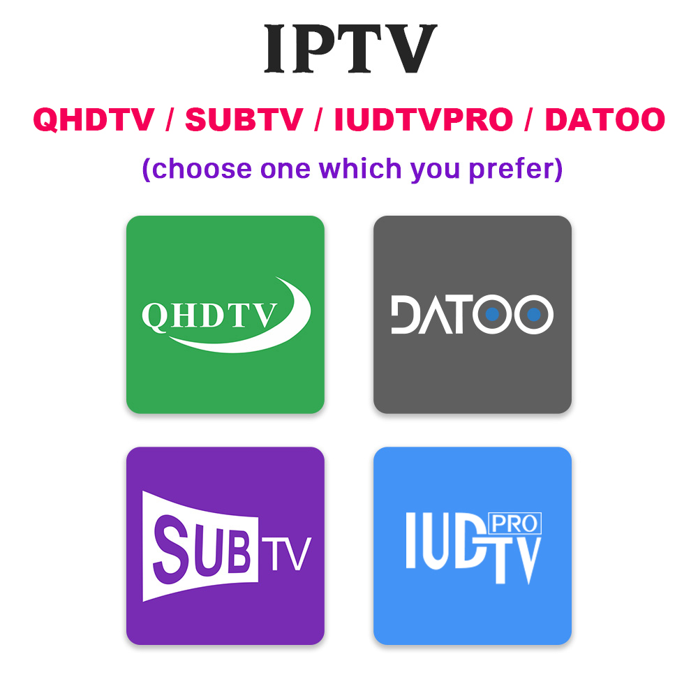 IPTV Spain Portugal France IP TV Subscription QHDTV SUBTV IUDTV Pro Datoo Code IPTV France Arabic Spain Turkey Netherlands IP TV in Set top Boxes from Consumer Electronics