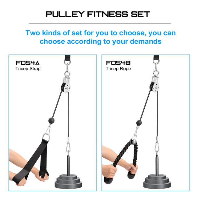 Bandas Elasticas Fitness Equipment DIY Pulley Cable Machine Attachment System Lifting Arm Biceps Triceps Blaster Hand Strength