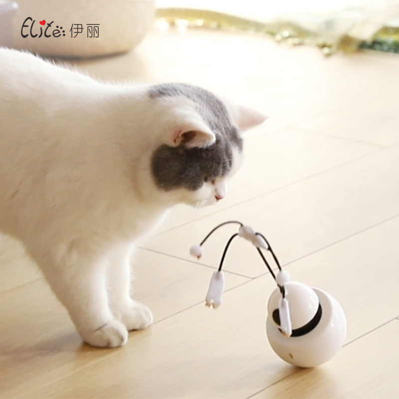 Cat Toys Ball 3in1 New Products 2020 Pet Supplies Electric Funny Cat Toy 360 Degree Robot Tumbler Laser Cat Toy Cat Tunnel image