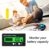 Nivel de carga de batería de litio y plomo para coche, medidor de capacidad, voltímetro, probador LED Digital, LCD, 12V-84V