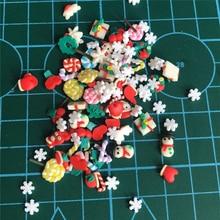 500 шт./лот 3D Полимерная Горячая глина Fimo разбрызгивает Рождество для рукоделия, DIY Slime shake открытки, скрапбукинг