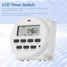 цена на TM618sH-2 24 hours 7 Days Weekly Programmable LCD Timer Switch 200-250VAC Time Relay Built-in Rechargeable Battery for Lights