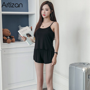 Image 3 - Sexy Summer Pajamas Sleepwear for Women Sleeveless Spaghetti Strap Summer Pyjamas Cami Top + Shorts Pajamas Sets Nightwear