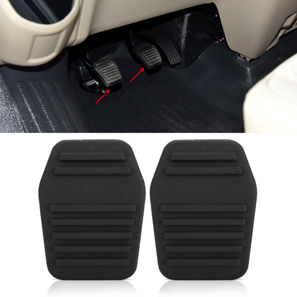 <font><b>1</b></font> Pair Clutch Pedal Pads Foot Rests Rubber Cover Pedals for Ford Transit MK6 MK7 2000 2001 2002 2003 2004 Car Accessories image
