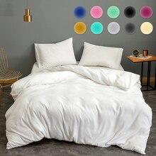 11 Colors Solid Color Quilt Cover 1pcs Classical Universal Bedding Set White Black Gray Bedclothes Clean