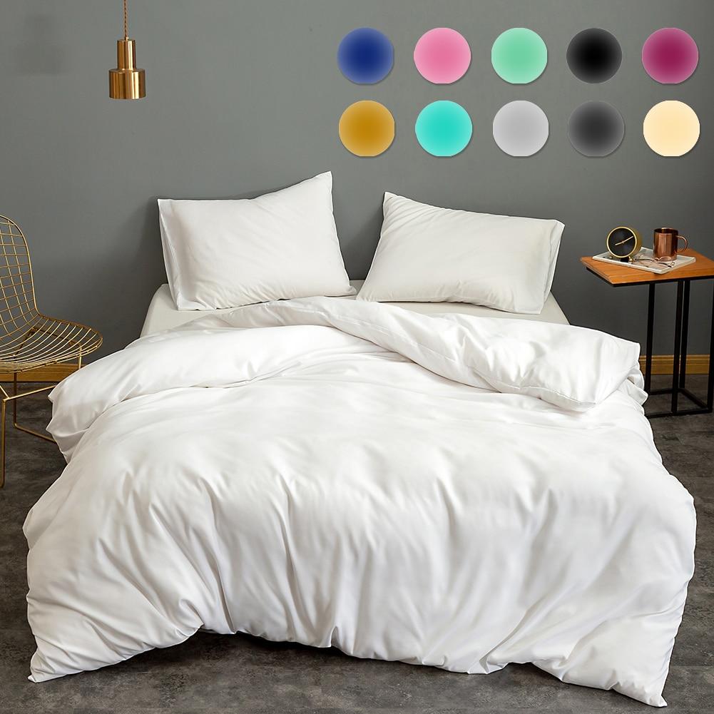 11 Colors Solid Colors Quilt Cover 1pcs Classical Universal Bedding Sets White Black Gray Bedclothes Clean Single Duvet Cover