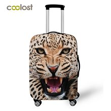 Cheetah / Lion Animal Print Bagage Beschermende Covers Koffer Covers 3d Print Trolley Bagage Dust Protection Covers Voor Mannen(China)