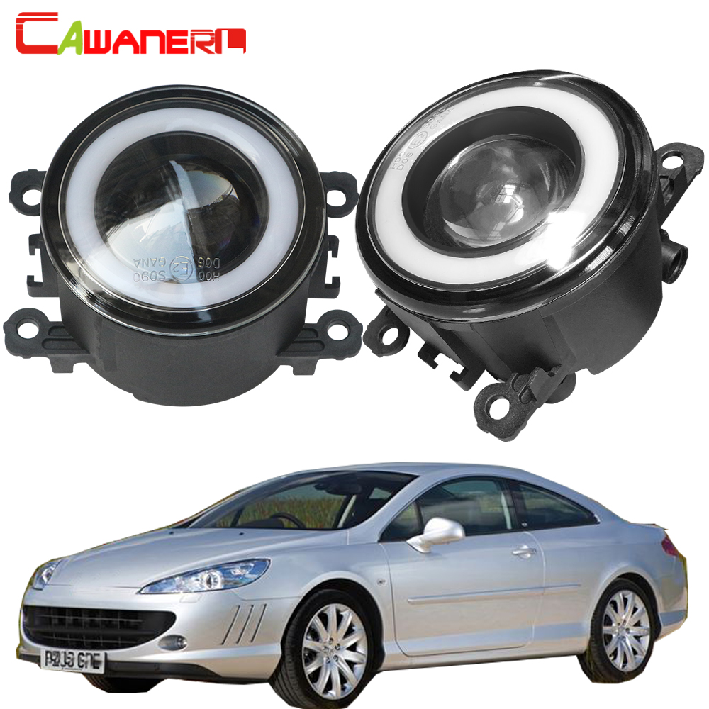 Cawanerl For 2005-2011 <font><b>Peugeot</b></font> <font><b>407</b></font> <font><b>Coupe</b></font> 6C_ Car 30W LED Fog Light Halo Ring Angel Eye Daytime Running Light DRL 12V image